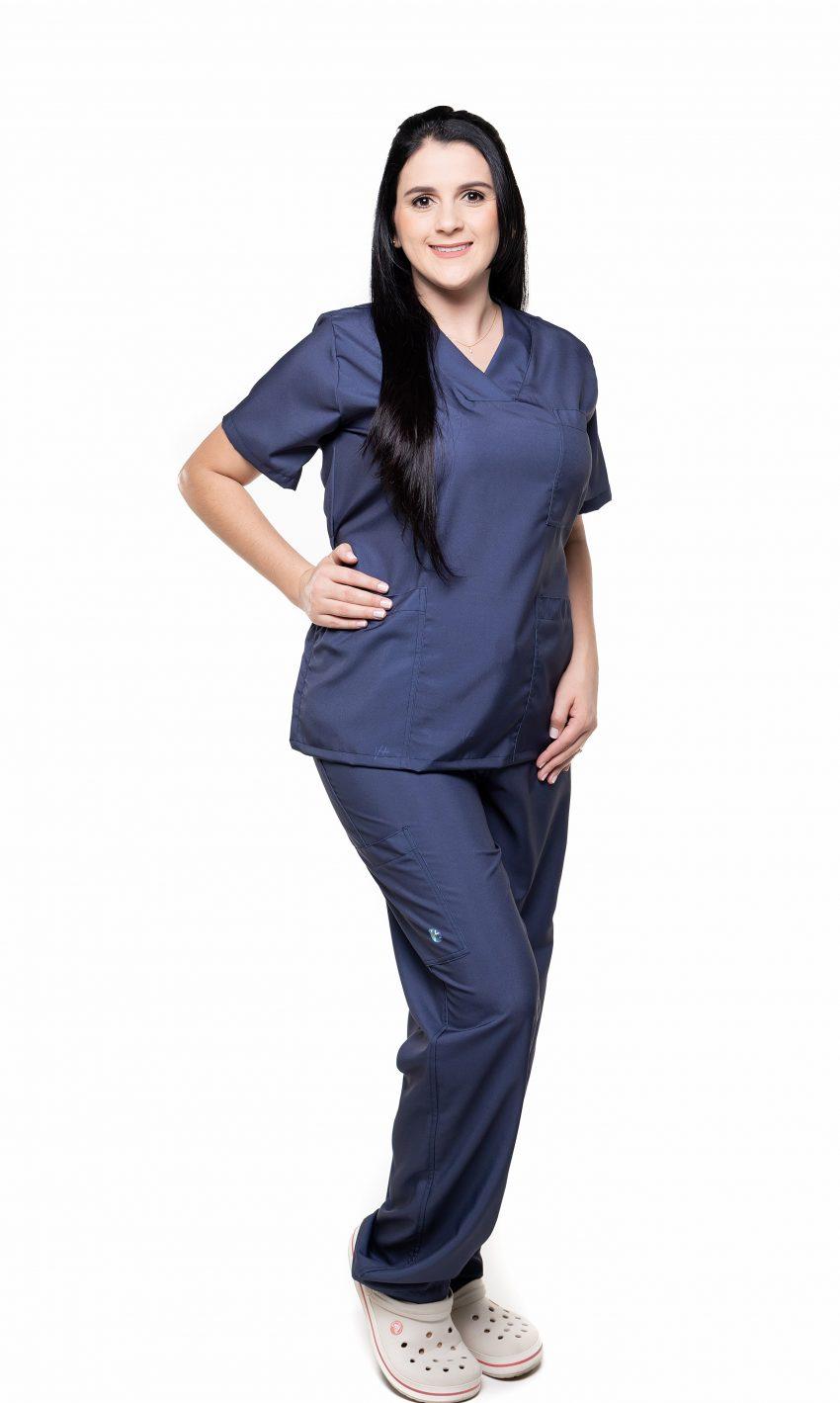 Conjunto (Blusa e Calça) Azul Marinho 003