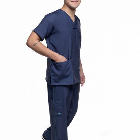 Conjunto Pijama Cirúrgico Liso Azul Marinho VM003 (M)