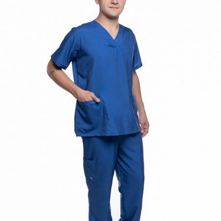 Conjunto (Blusa e Calça) Azul Liso 014 (M)